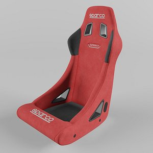 3D Sparco SPRINT Sports Racing Seat Suede Red