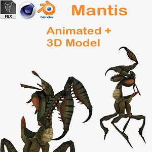 3D Ghost Mantis Rigged 3D