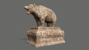 3D Bear Statue 6 model