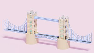 3D model london tower bridge