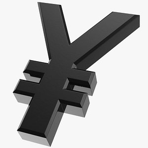 japanese yen currency symbol 3D model