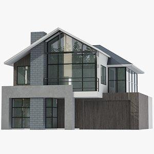 Modern House 01 3D model