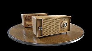 Vintage Desk Radio 3D model