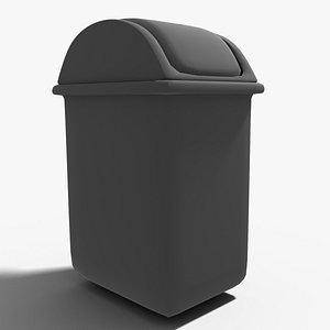 3D model simple trash bin