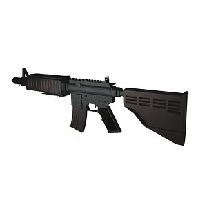 M4A4 Blender 3D model