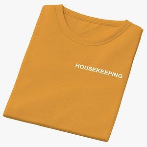3D Female Crew Neck Folded Orange Housekeeping 01
