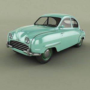 1954 saab 92b 3D model