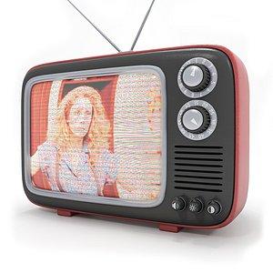 3D model Scarlet Vintage TV - Red