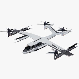 Flying Taxi Hyundai Uber PBR 3D model