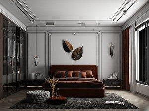 Modern Style Bedroom - 543 3D model