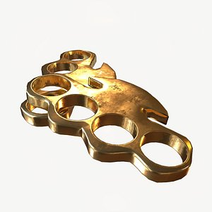 brass gold 3D model