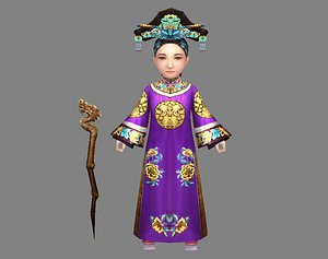 3D qing dynasty queen