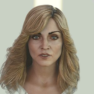max madonna singer head photorealistic