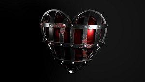 heart valentine art 3D