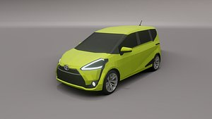 Toyota Sienta low poly 3D model