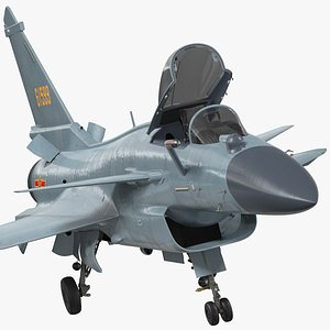 3D model chinese air force chengdu