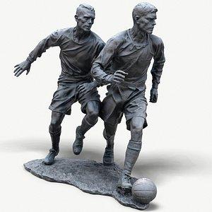 Sculpture of football players 3D model