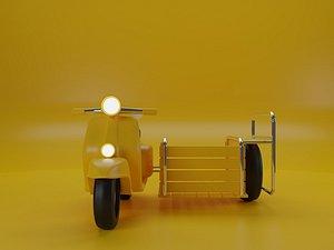 3D motorcycle Saleng 3D model model
