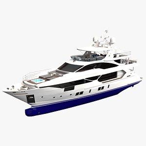 generic yacht 3D model