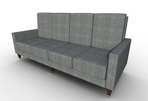 3D furniture couch sofa model