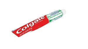 3D toothpaste colgate tooth model