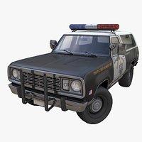 Offroad police car PBR