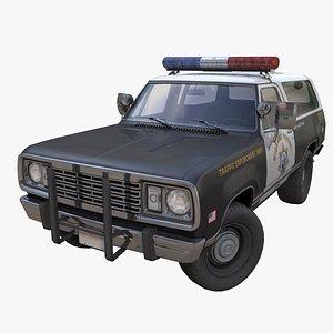 Offroad police car PBR 3D model