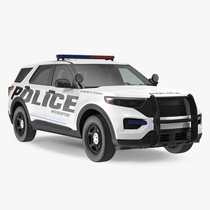 Police Interceptor SUV Rigged model