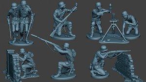 3D model german soldiers ww2 g5