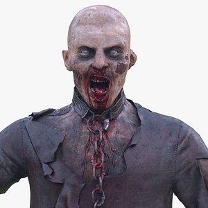 Walking Dead Guy LOW POLY 3D model