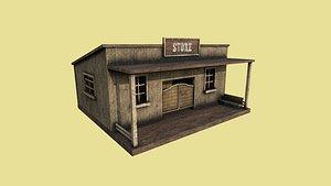 3D western store - wild west