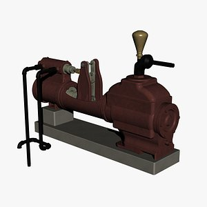 3D Vintage Blake and Knowles inspired Direct Acting Steam pump