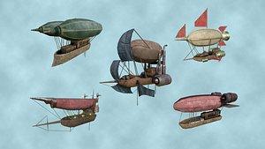3D model 05 steampunk airship -