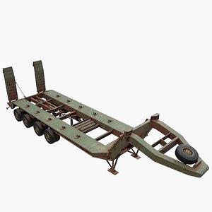 3D trailer semi oshkosh model