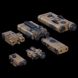 PEQ Units 01 DESERT 3D model