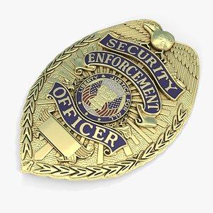 3D police badge model