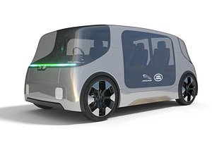 Jaguar Land Rover Vector Electric Shuttle with Interior model