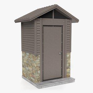 3D model outdoor restroom