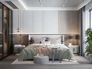 Modern Style Bedroom - 535 3D