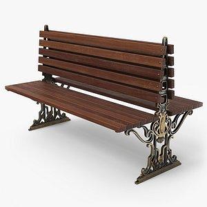 bench city pbr 3D model