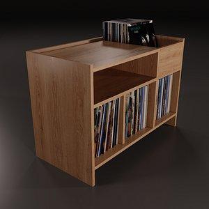 3D vinyl storage model