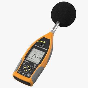 Handheld Digital Sound Level Meter 3D model