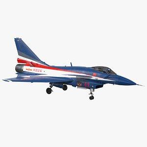 3D PLAAF J10 Vigorous Dragon Aerobatic Team model