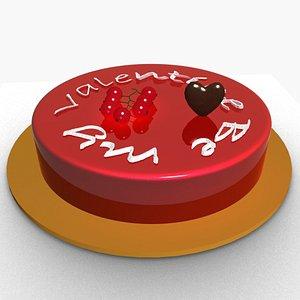 valentine s cake 3D model