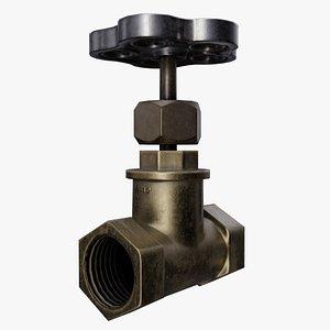 3D old gate valve