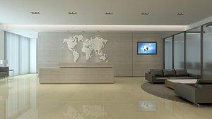 3D office reception model