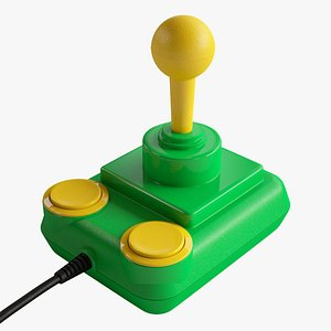 Competition Pro Joystick Mean Green 3D model