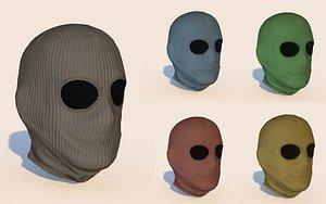 3D model balaclava mask pack