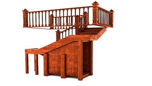 3D Wood Stair