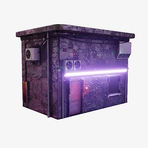 cyberpunk house 3D